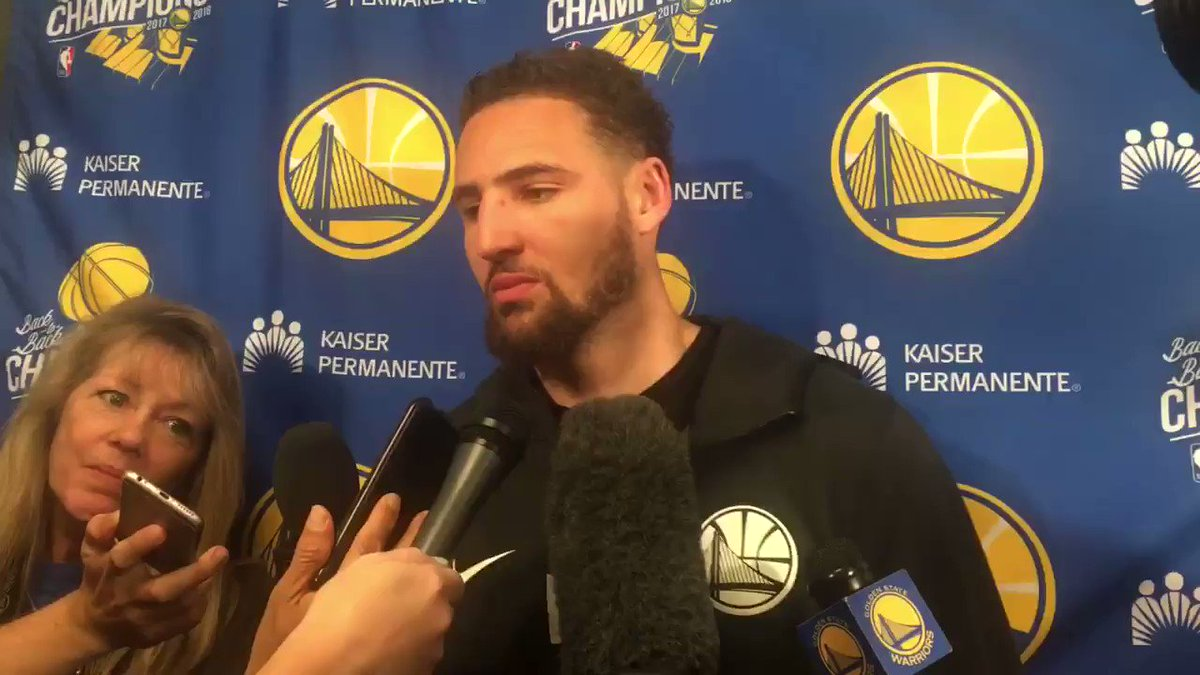 Klay Thompson on what the Spurs did defensively tonight to slow down Warriors: 'Absolutely nothing, we just missed shots' #KSATsports #NBA