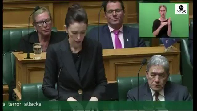 """""""To others, I implore you, speak the names of those who were lost, not the man who took them. He may have sought notoriety, but we in New Zealand will give him nothing. Not even his name,"""" Prime Minister Jacinda Ardern   ALL OF THIS! ✊🏽✊🏾✊🏿  THIS IS A LEADER!  RETWEET THIS!"""