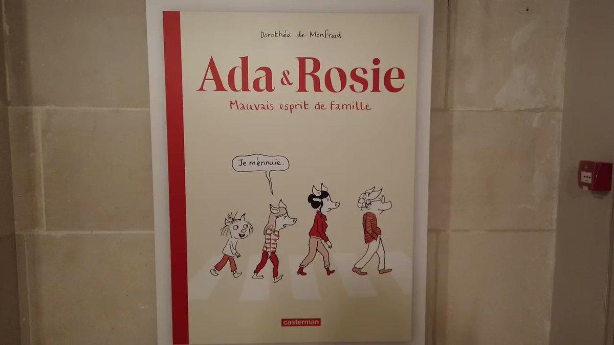 Nous avons posé quelques questions à Dorothée de Monfreid (@DdeMonfreid) sur Ada & Rosie, son album actuellement présenté dans notre Gallery.  Plus d'infos sur https://www.cbbd.be/fr/expositions/la-gallery/ada-rosie-mauvais-esprit-de-famille…  @CastermanBD @BrusselsMuseums @museumPASSmusee @visitbrussels