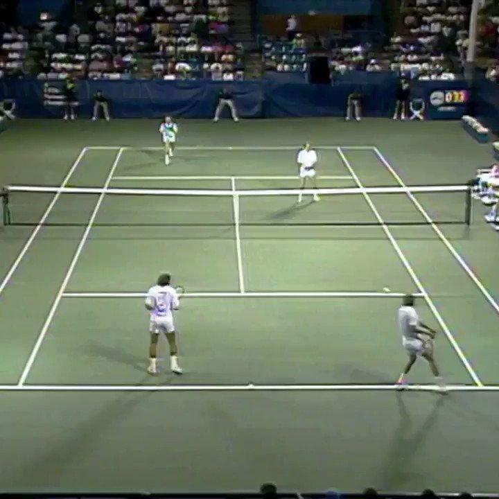 Open Vault: All-lefty doubles mania...🔥 🇦🇺Woodforde/🇺🇸McEnroe 🆚 🇭🇷Ivanisevic/🇮🇹Nargiso 🎥: 1989 #USOpen