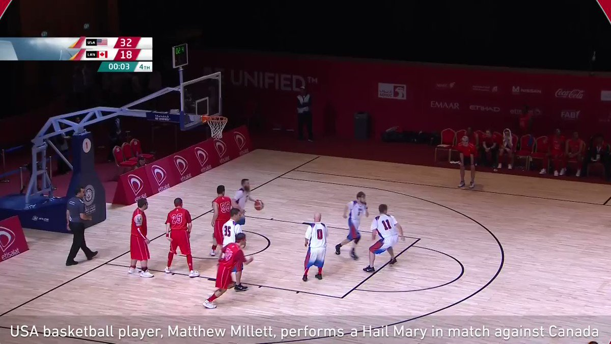 USA player ends Special Olympics game with remarkable 75-foot buzzer-beater