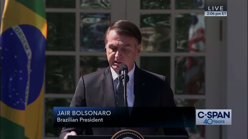 "Image for the Tweet beginning: President Bolsonaro: ""In conclusion, Brazil"