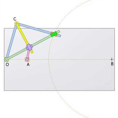 Mechanism for Drawing Circle
