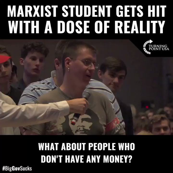 Image for the Tweet beginning: When these Marxist students step