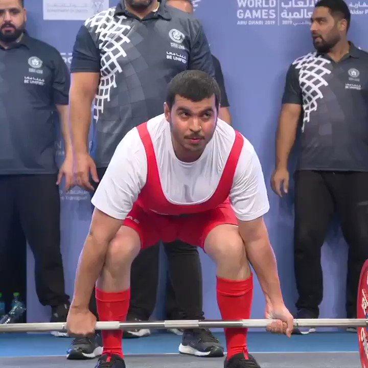 .@SpecialOlympics athlete Ibrahim Al Hammadi celebrating his deadlift is everything �� https://t.co/onxb4Ob3p2