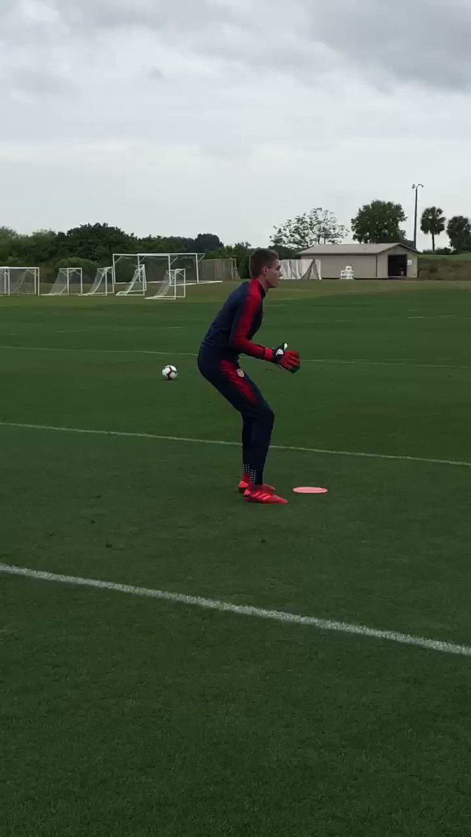 Image for the Tweet beginning: #GKUnion back at work!  Ethan Horvath