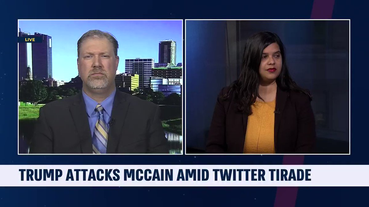 Clip from last night on @i24NEWS_EN with @DavidShuster discussing @realDonaldTrump, the tweets, McCain, #NewZealandTerroristAttack & more: