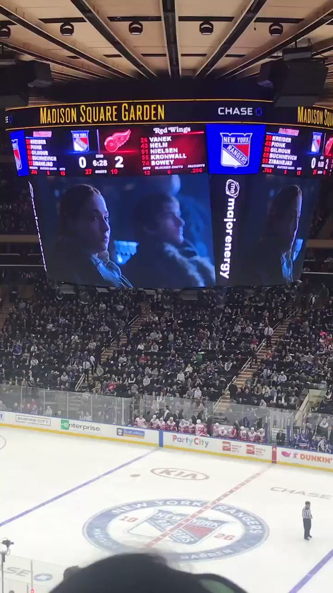 Sansa Stark dabbing and chugging wine at a Rangers game is everything I need in life