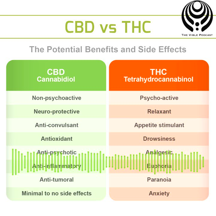Ever wondered about the differences between CBD and THC? 🤔  Check out Ep. 44 of #TheVible for more about the cannabis industry, featuring special guest Cho!   Apple Podcasts➡️ http://apple.co/2Wdi6jp  Spotify➡️ http://spoti.fi/2OiIKoE  Stitcher➡️ http://bit.ly/2UJhulj