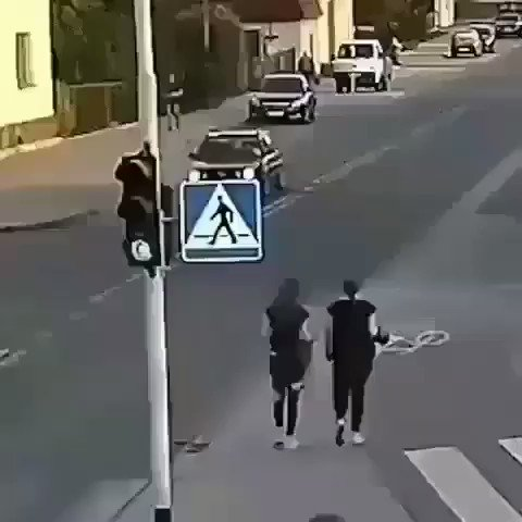 This could have been deadly. She pushed her friend and she almost got ran over by the bus. What would you do if you got pushed like this? #caughtoncamera #mitobiltd #wedsvideoseries #cctv #surveillance #surveillancefootage #security #safety