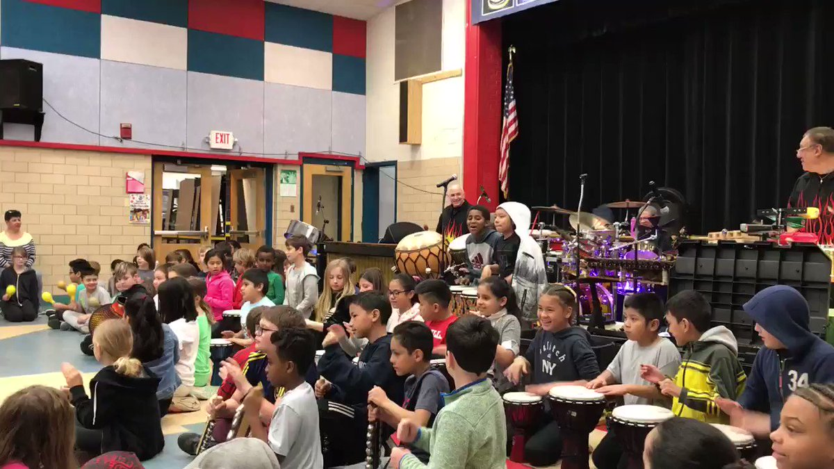 Awesome 3rd, 4th, and 5th grade musicians perform with Luis Garay Percussion World! <a target='_blank' href='http://search.twitter.com/search?q=KWBPride'><a target='_blank' href='https://twitter.com/hashtag/KWBPride?src=hash'>#KWBPride</a></a> <a target='_blank' href='https://t.co/3TeAwZABeE'>https://t.co/3TeAwZABeE</a>