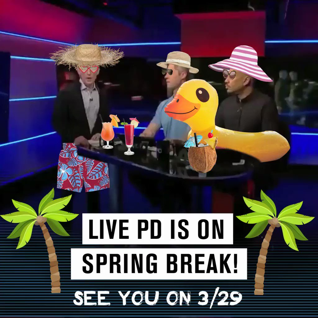 🌴How are you occupying your time during the #LivePD spring break?🌴 https://t.co/vZZEzEQO56