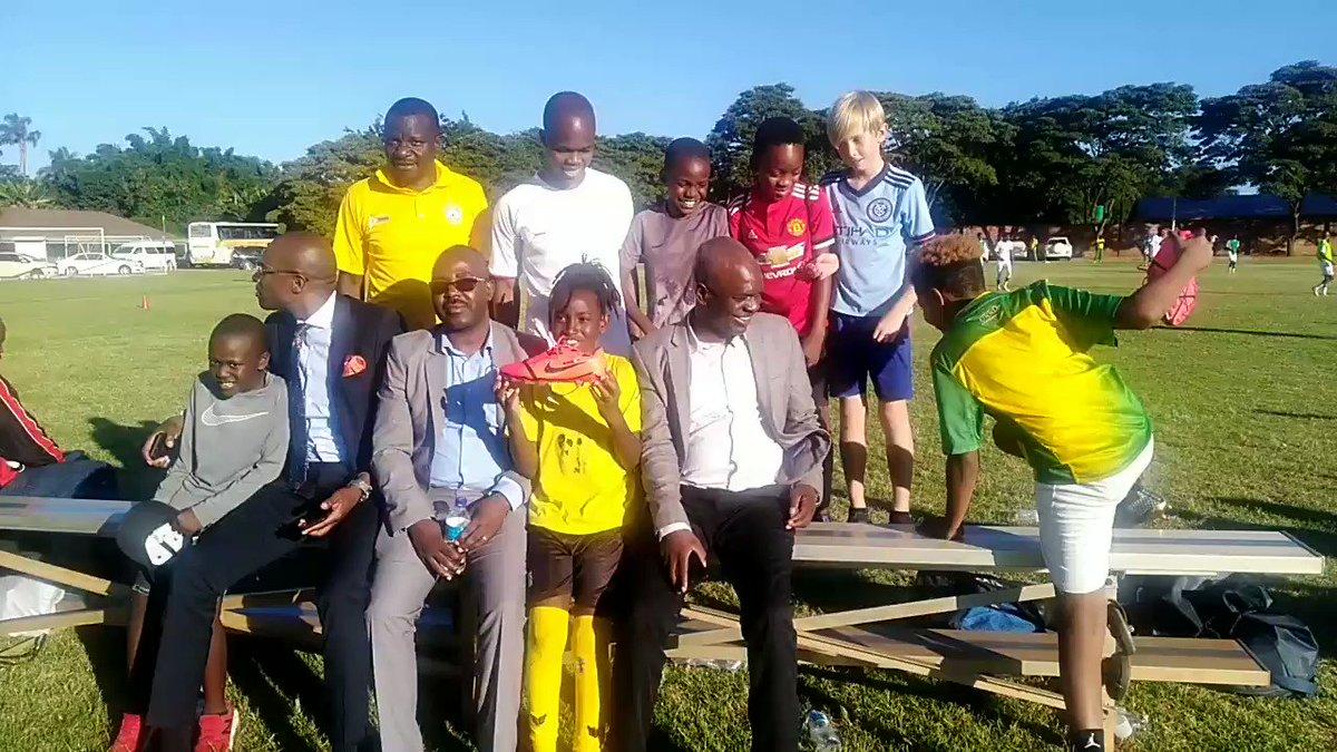 During Zim Warriors soccer team training