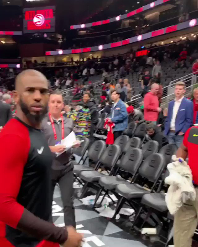 This young fan was brought to tears when he met his favorite player. He even got the signed, game-worn shoes. 🙏 @CP3   📹 @ATLMortgages1
