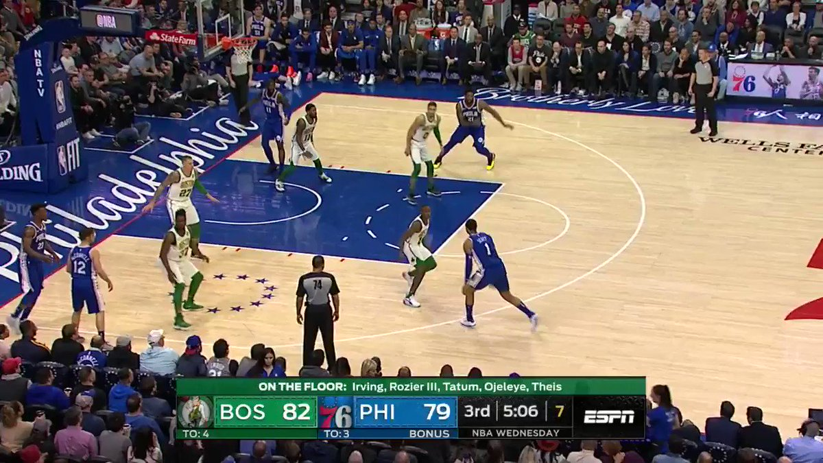 Shake, strength, and-1 for Joel Embiid!  #HereTheyCome 83 #CUsRise 82  ��: @ESPNNBA https://t.co/7HIbleDAaH