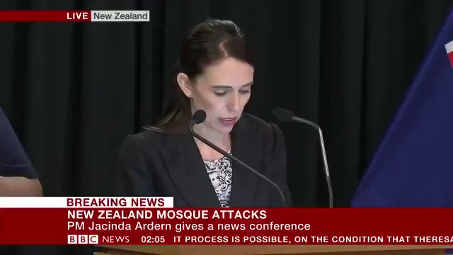 """New Zealand PM Jacinda Ardern moves to ban all military style weapons, effective immediately: """"Every semi-automatic weapon used in the [Christchurch] terrorist attack will be banned in this country."""" Via BBC"""