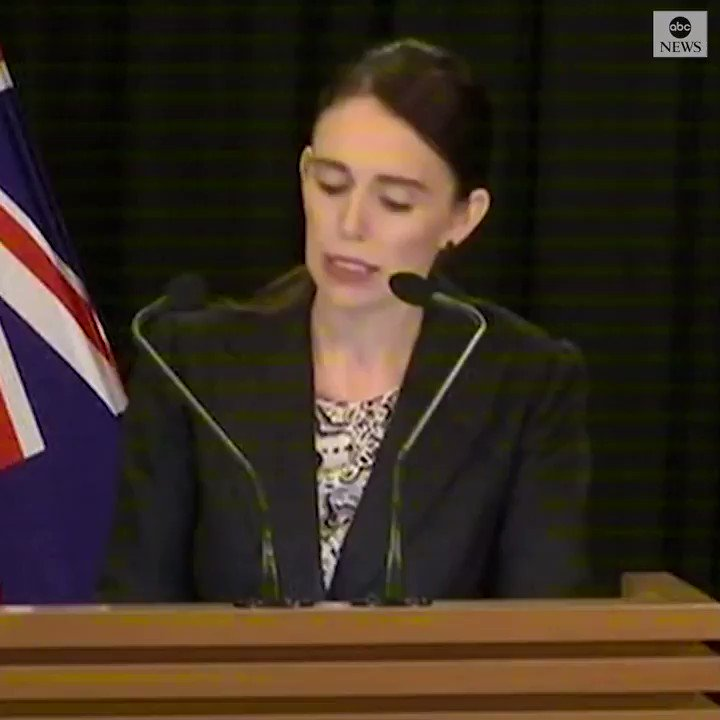 """New Zealand Prime Minister Jacinda Ardern announces sweeping gun law changes:  """"Today I am announcing that New Zealand will ban all military-style semiautomatic weapons. We will also ban all assault rifles. We will also ban all high-capacity magazines."""" https://abcn.ws/2TYSvgH"""