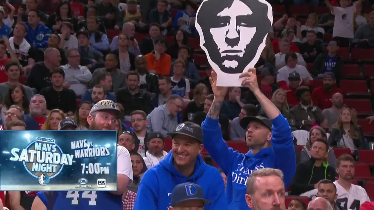 The savvy Blazer fans know whats up! #Dirk #MFFL