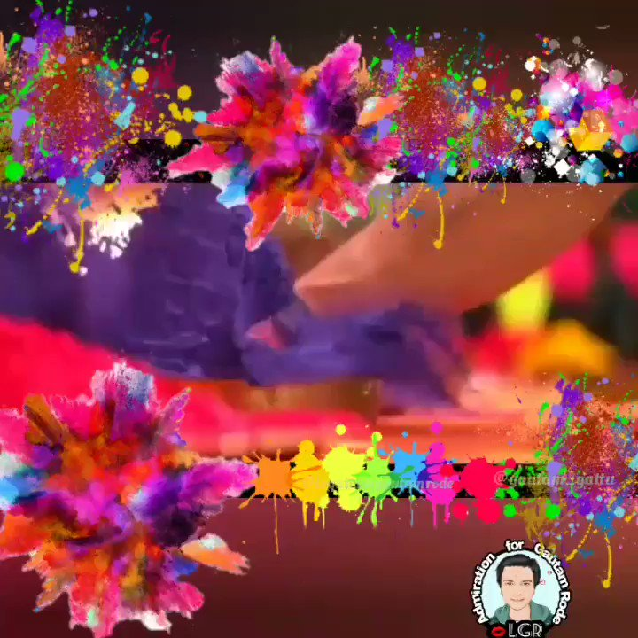 😇 Happy Holi, may the rest of the year be as colorful and full of joys as today! @Panawasthy_31 and @gautam_rode  Many blessings and hugs from Chile.👉💖👈 #HappyHoli2019 #GautamRode #PankhuriAwasty