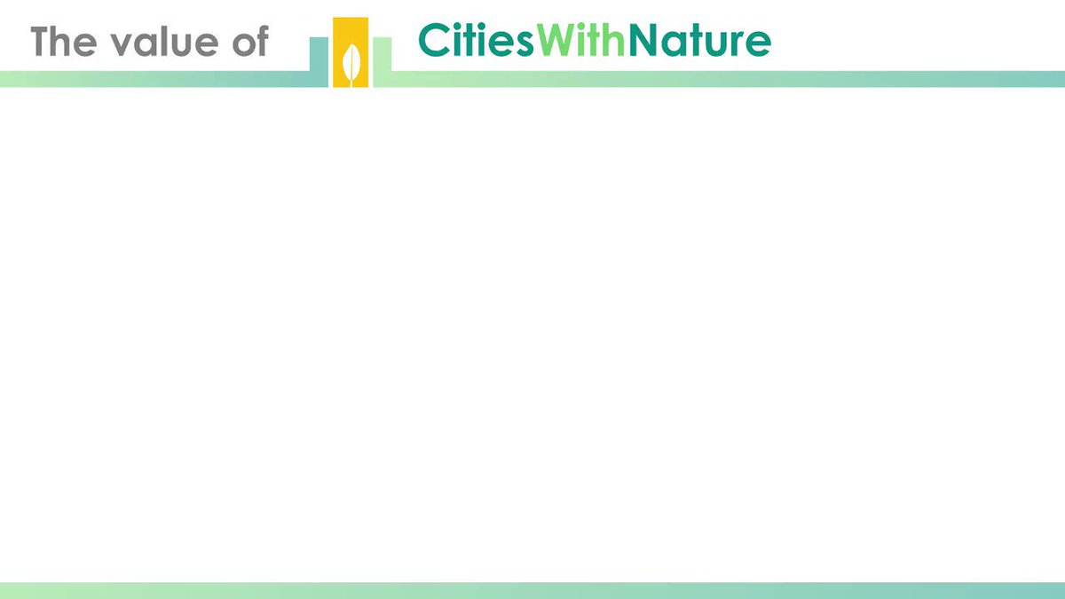 RT @CitiesWNature What is the value of #CitiesWithNature?   #UrbanEcosystems help support the long-term #health of the planet, providing us with many life-supporting & life-enhancing #benefits.    More gifts from #nature here: https://t.co/vSFMVRuS7q #UNDecade of #EcosystemRestoration