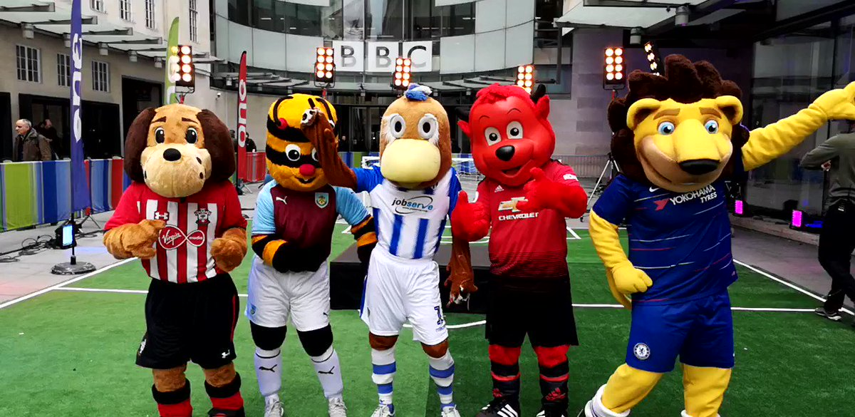 Check out Fred the Red on @bbctheoneshow last night for the #SuperMovers Mascot Mashup with @BBC_Teach and @PLCommunities 👹