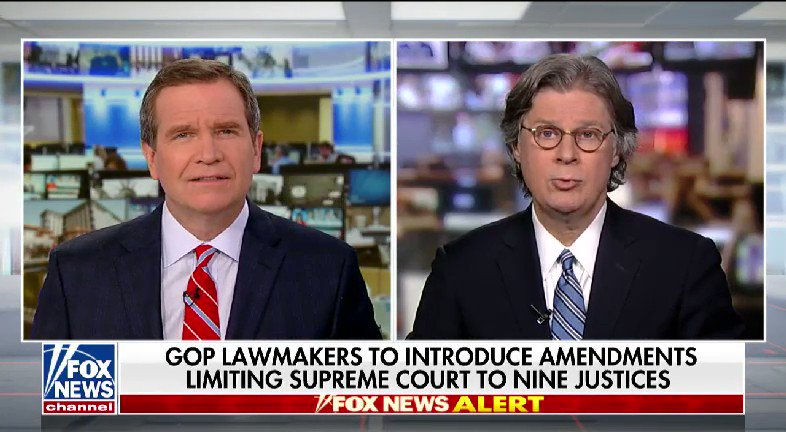 WATCH: @JonScottFNC spoke with @ByronYork about some GOP lawmakers set to introduce amendments limiting the Supreme Court to nine justices #nine2noon