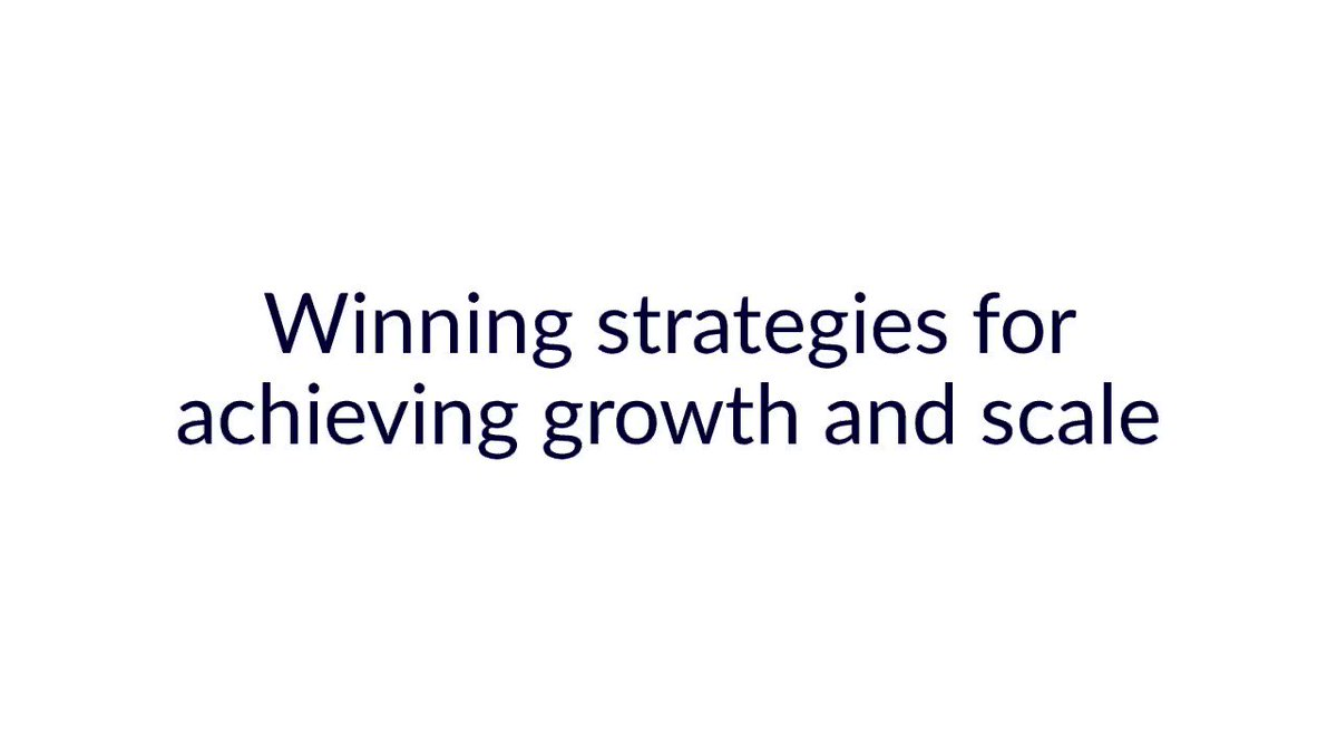 Image for the Tweet beginning: Winning strategies for achieving growth