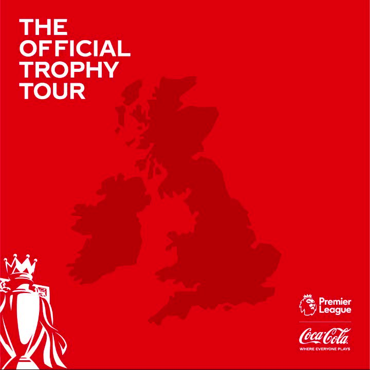 🏆 The Official @PremierLeague Trophy Tour with @CocaCola_GB is here!  ⏳ Liverpool 📅 23/3  ⏳ Newcastle 📅 30/3  ⏳ Cardiff 📅 6/4  ⏳ Dublin 📅 13/4  ⏳ Manchester 📅 20/4  ⏳ London 📅 27/4  ✅ #TheOfficialTrophyTour begins this Saturday! #ad  👉 http://bit.ly/SPORF-TROPHYTOUR…