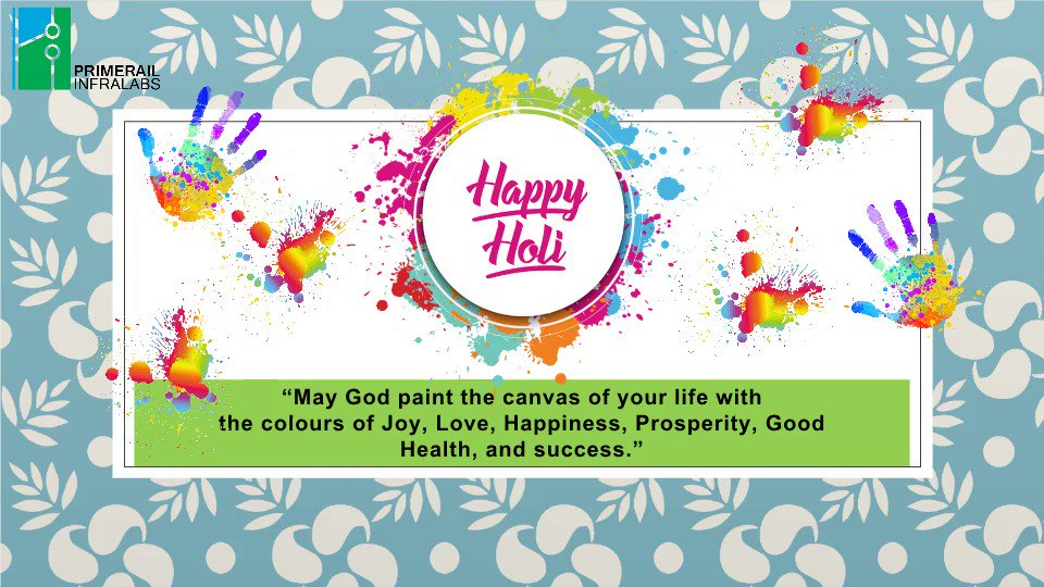 @primerail Wishes Everyone a Very Happy & Colourful Holi. May the Spring Colours fill Your Life with Happiness, Health & Success!😇  Our #Team Celebrated Holi bringing out the True Spirit & Color.  #HoliHai #Holi #FestivalofColors #India #Primerail #TieTran #LifeatPrimerail
