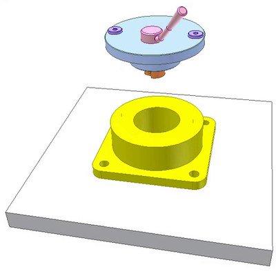 Clamping a Drill Bushing Disk