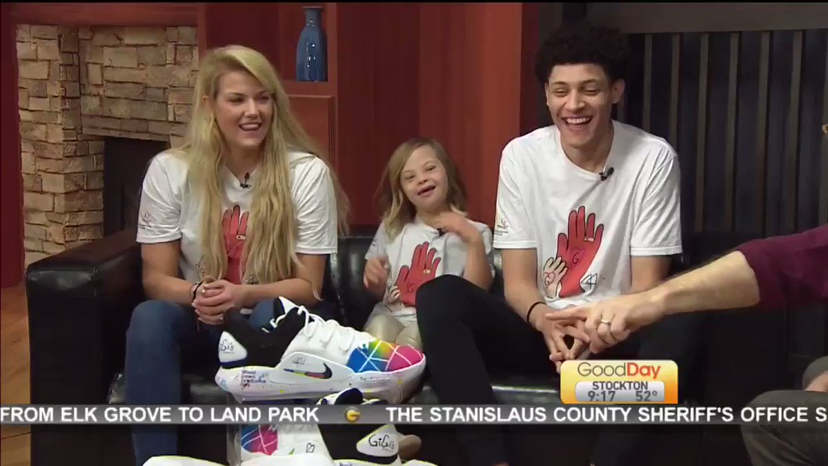 Special thank you to @GoodDaySac for having us on this morning!! Make sure you stay tuned for the raffle!   All proceeds are going to @GiGis_Playhouse Sacramento!! #WorldDownSyndromeDay #GenerationG