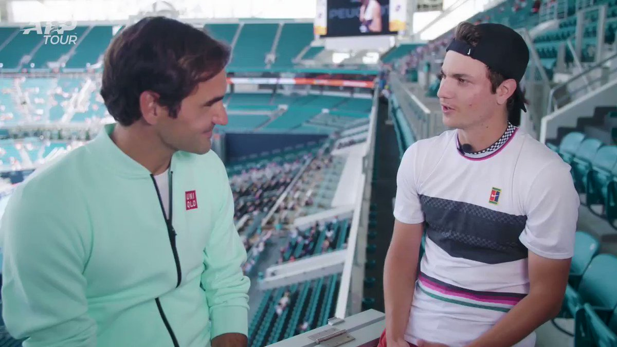 A question @rogerfederer has never been asked before?! 😱  This has to be a first...  👀full version 👉 http://bit.ly/2HCVgyC