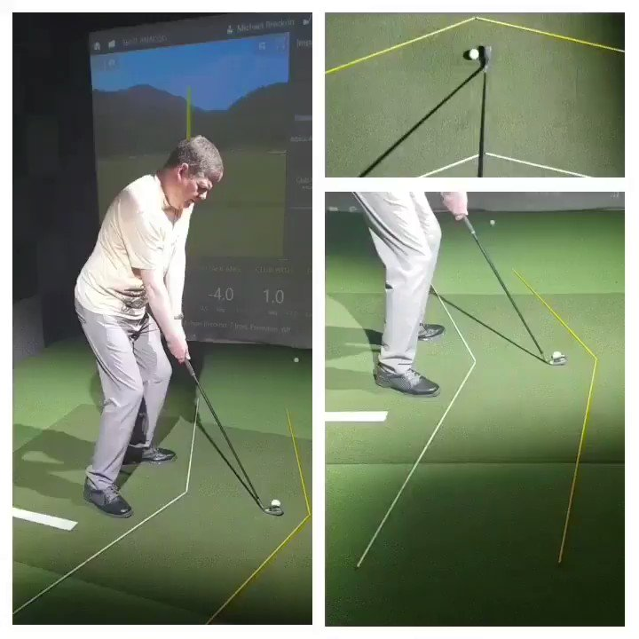 Michael Breckon using the grid to establish desired club and hand path - massive improvements in recent months!📉#RJG #TGPI #results #gridlife #strike #scoring #dispersion #trending