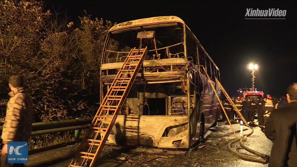 26 killed, dozens injured after fire on tour bus in China