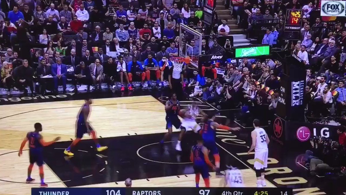 Adams literally swatted that shot into a fast break
