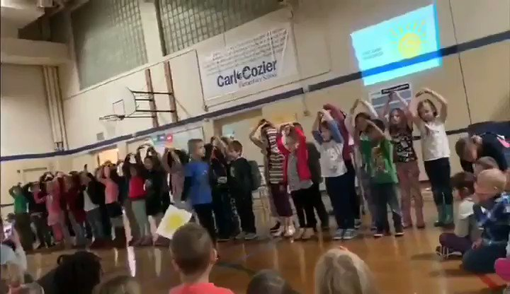 My son is autistic and nonverbal. He is the one running back and forth with the sunshine while the rest of the kids sing.  A year ago he would have ran out of that room screaming, because loud spaces and crowds stress him out.  This is a repost with better video.  Enjoy🤗😭😀😍