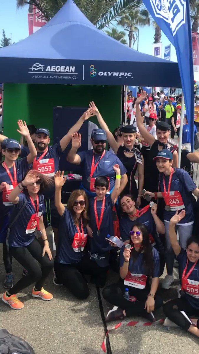 Image for the Tweet beginning: Happy aegean running team @RunLimassol