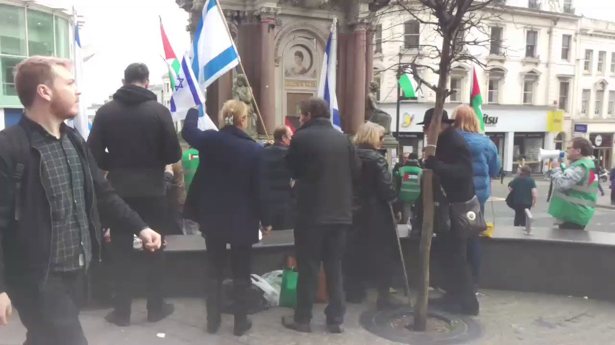 .@SussexFriends of Israel have now turned up to try & disrupt our stall