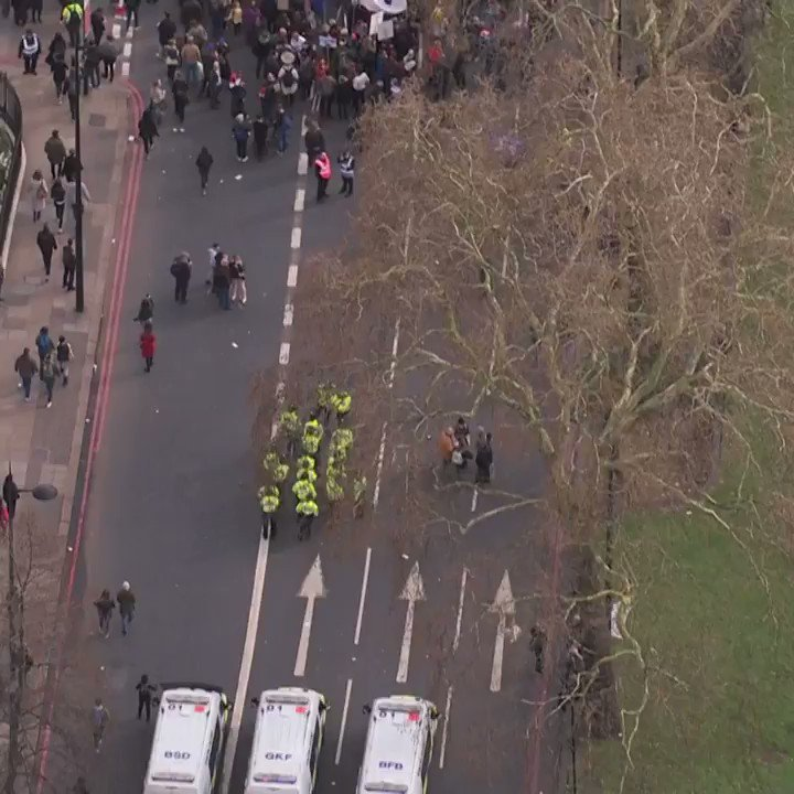I didn't even recognise it was the same march!  This heli footage starts at the BACK... so gives you an idea of how far up Park Lane the crowds were even before getting to Hyde Park Corner.  That. Is. Colossal.