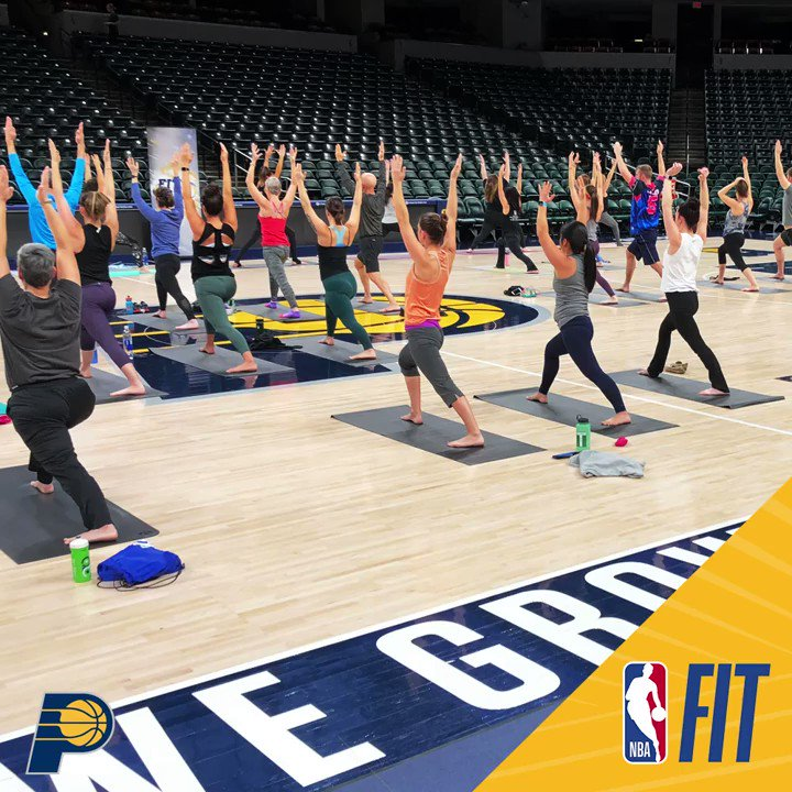 In celebration of @NBA FIT Week, @PacersCares & @PacersBoomer challenged fans to Be FIT Like A Pro by engaging in a daily physical or mental wellness activity, with help from our friends @Kroger and @StVincentIN.  More on #NBAFit Week: https://on.nba.com/2XUdMYe