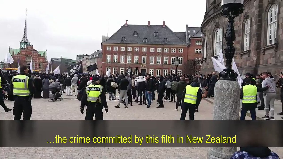 Islamist Terrorist group Hizb ut Tahrir gather in Denmark to show strength and intimidate the public. They blame the NZ attack on Christianity. I have one question: Why doesn't this group exist in Poland 🇵🇱? Because Polish people have brains AND bravery.