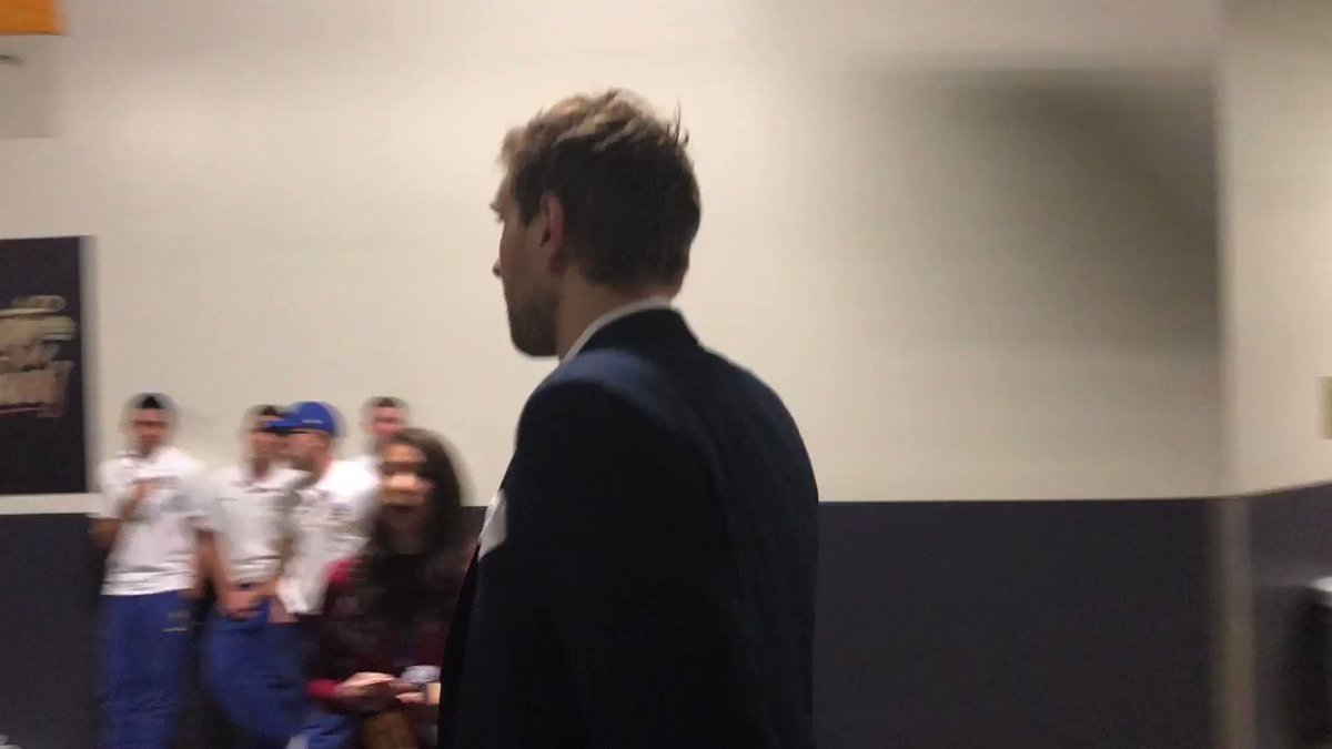 Dirk's final walk past his famous hole in the Oracle wall: