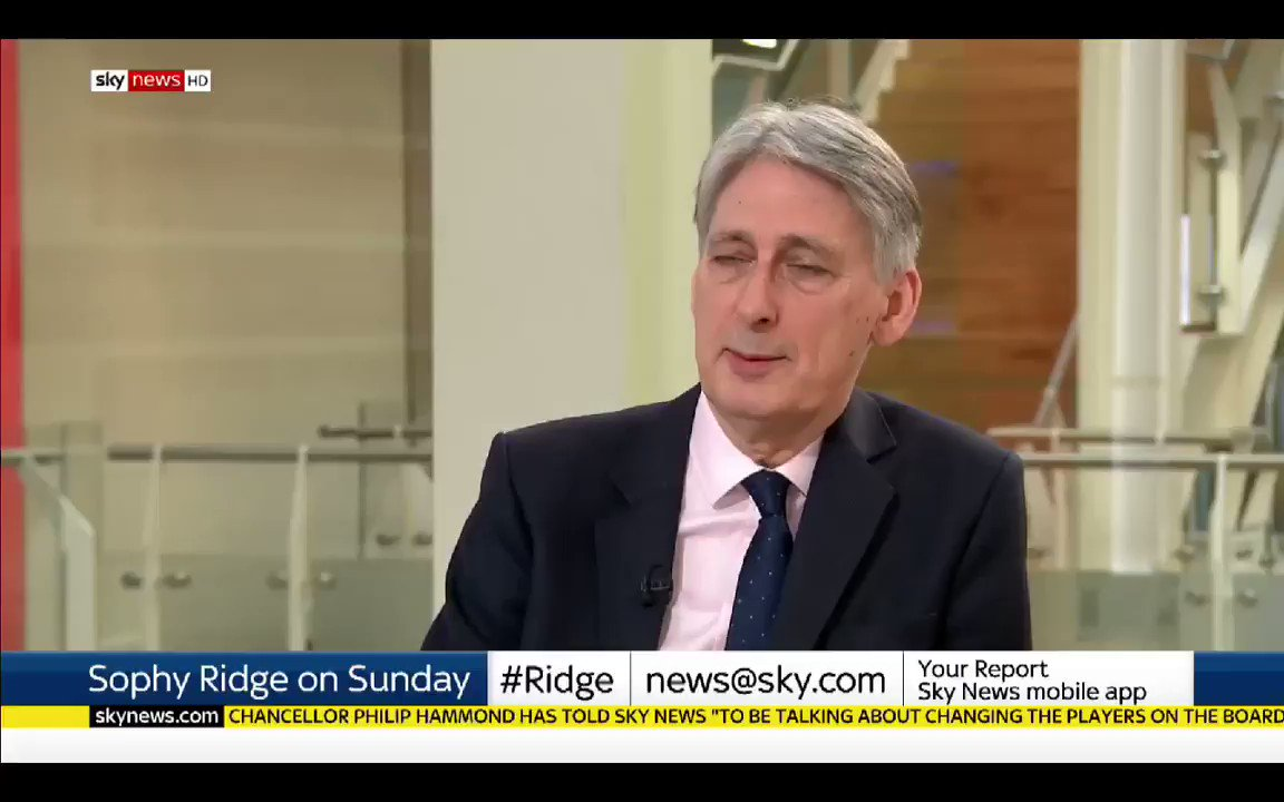 Image for the Tweet beginning: Philip Hammond(Chancellor) - A second