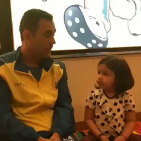 Always a sixer with Appa! Language lessons between matches! #WhistlePodu #Yellove 🦁💛 VC: @msdhoni