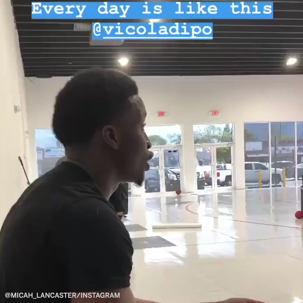 .@VicOladipo has some serious talent �� (micah_lancaster/Instagram) https://t.co/efY7sYBoGv