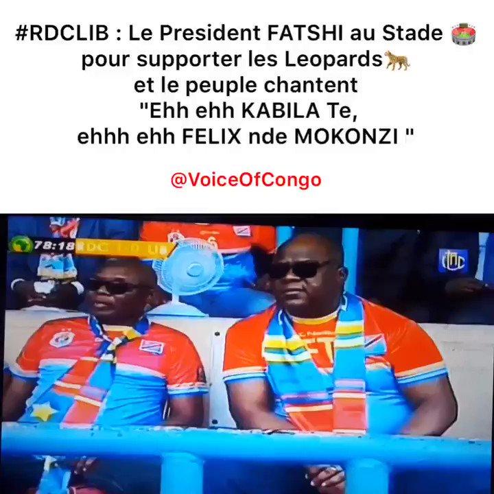 #RDC : Quand Le peuple au Stade 🏟 des Martyrs scandent le nom de S.E Félix TSHISEKEDI ça donne ça ! 🇨🇩🐆