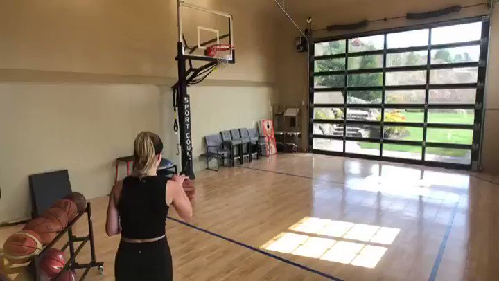 Meyers Leonard's wife can shoot better than most NBA point guards