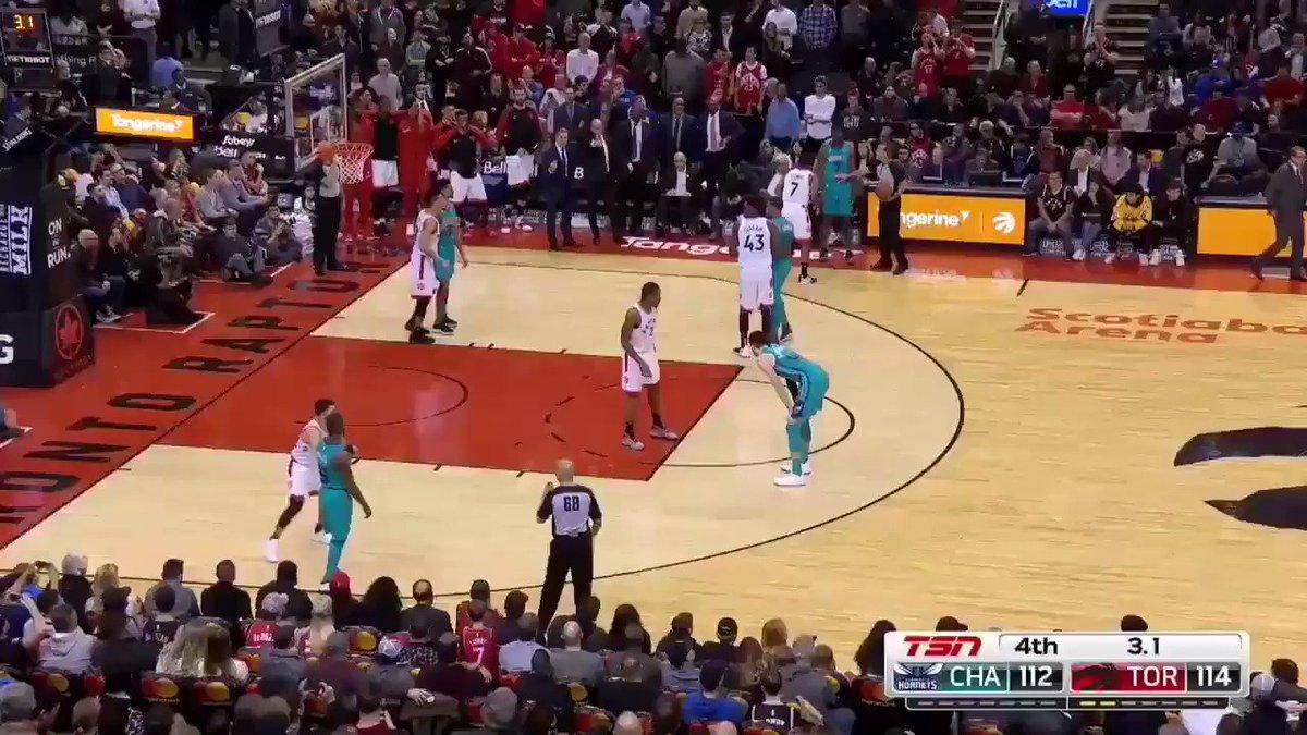 @jlamb FROM DOWNTOOOWNNN  Amazing game winner #TissotBuzzerBeater for the @hornets!  #Hornets30 #NBA #WeTheNorth