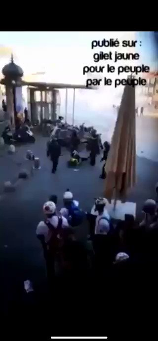 In the 19th week of the Yellow Vests: Macron enabled his police regime to shoot the protesters.  THIS IS WHAT MACRON IS DOING TO HIS OWN PEOPLE!  Montpellier, France Medics are ALSO getting tear gassed at close range and getting punched in the face!