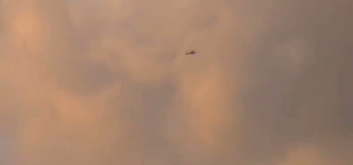 #IDF Apache attack helicopter attacking a target in the #Gaza Strip. #Israel